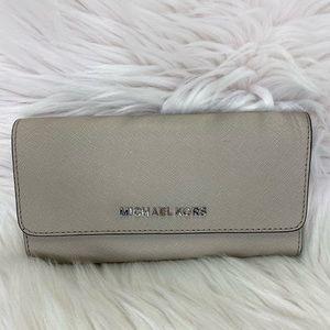 Michael Kors Jet Set Trifold Wallet Cement Grey